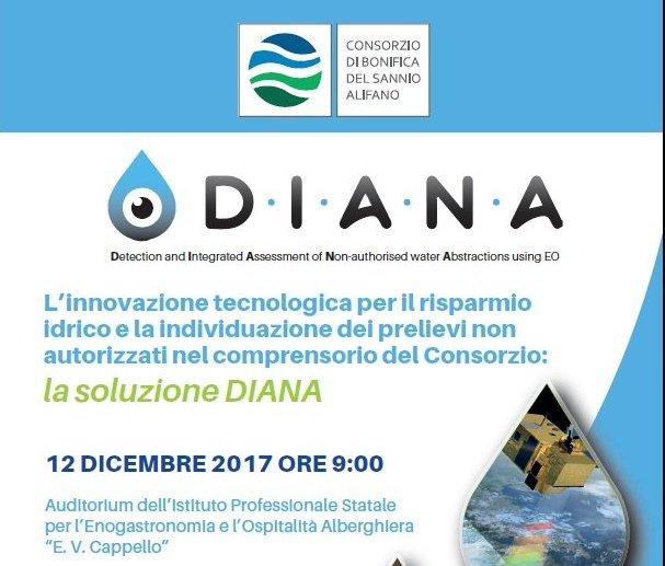 L'innovazione tecnologica per il risparmio idrico e la individuazione dei prelievi non autorizzati nel Consorzio del Sannio Alifano: la soluzione DIANA
